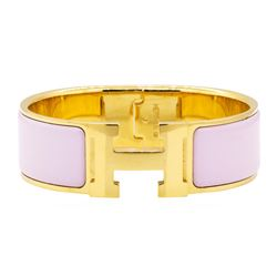 Hermes 18KT Gold Plated Clic H Bracelet