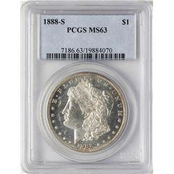1888-S $1 Morgan Silver Dollar Coin PCGS MS63