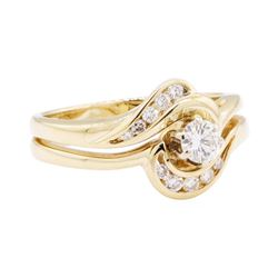 14KT Yellow Gold 0.50 ctw Diamond Wedding Set