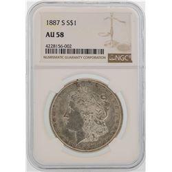 1887-S $1 Morgan Silver Dollar Coin NGC AU58