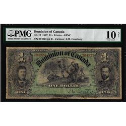 1897 $1 Dominion of Canada Note DC-12 PMG Very Good 10 Net