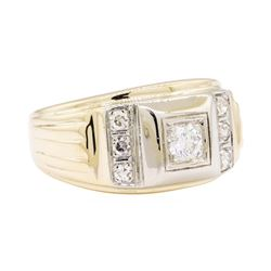 14KT Yellow and White Gold 0.50 ctw Mens Ring