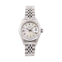 Rolex Ladies Oyster Perpetual Date Stainless Steel Wristwatch