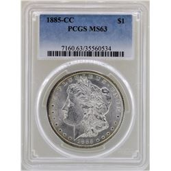 1885-CC $1 Morgan Silver Dollar Coin PCGS MS63