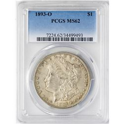 1893-O $1 Morgan Silver Dollar Coin PCGS MS62