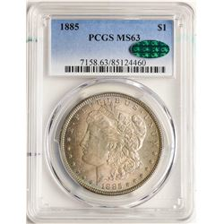 1885 $1 Morgan Silver Dollar Coin PCGS MS63 CAC AMAZING TONING