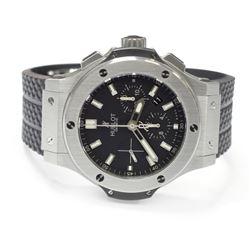 Hublot Mens Big Bang Steel 44mm Black Dial Watch