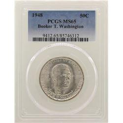1948 Booker T. Washington Memorial Half Dollar Coin NGC MS65