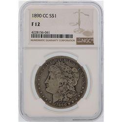 1890-CC $1 Morgan Silver Dollar Coin NGC F12