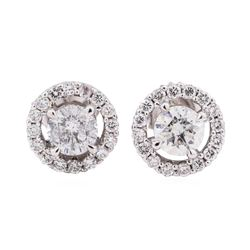 14KT White Gold 1.54 ctw Diamond Stud Earrings