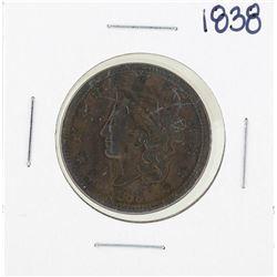 1838 Braided Hair Large Cent Coin