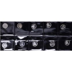 Lot of (10) Disney Mickey Mouse 1/20 oz. .999 Fine Silver Coin Rounds