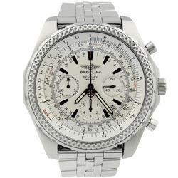 Breitling Mens Bentley Motors T Stainless Steel 49mm White Dial Watch