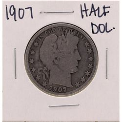 1907 Barber Liberty Head Half Dollar Coin