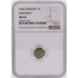 1683 Germany 1 Pfennig Nurnberg Coin NGC MS64