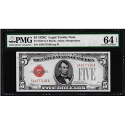 1928C $5 Legal Tender Note Fr.1528 PMG Choice Uncirculated 64EPQ