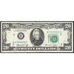 1974 $20 Federal Reserve Note Full Offset ERROR