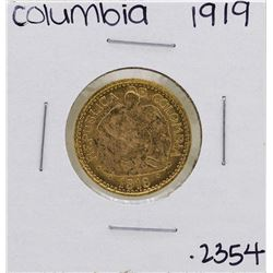 1919 Columbia 5 Pesos Gold Coin