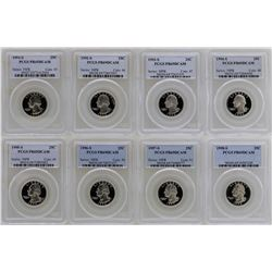 Lot of 1991-S to 1998-S State Silver Proof Quarter Coins PCGS PR69DCAM