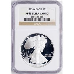 1995-W $1 Proof American Silver Eagle Coin NGC PF69 Ultra Cameo