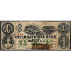 1858 $1 International Bank of Canada Toronto Note