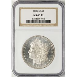 1880-S $1 Morgan Silver Dollar Coin NGC MS63PL