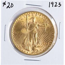 1923 $20 St. Gaudens Double Eagle Gold Coin