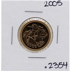 2005 Great Britain Elizabeth II Sovereign Gold Coin