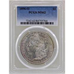 1896-O $1 Morgan Silver Dollar Coin PCGS MS62
