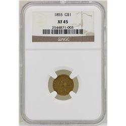 1855 $1 Indian Princess Head Gold Dollar Coin NGC XF45