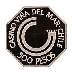 Casino Vina Del Mar Chille 13.6 gram .925 Sterling Silver Gaming Token