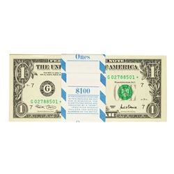 Pack of (100) Consecutive 2001 $1 Federal Reserve STAR Notes Chicago