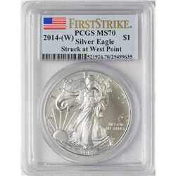 2014-W $1 American Silver Eagle Coin PCGS MS70 First Strike