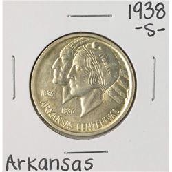 1938-S Arkansas Centennial Commemorative Half Dollar Coin