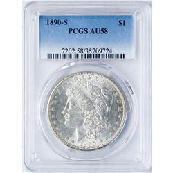 1890-S $1 Morgan Silver Dollar Coin PCGS AU58