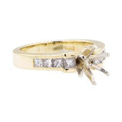 14KT Yellow Gold 1.00 ctw Diamond Round Semi-mount Ring
