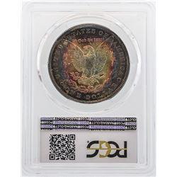 1886 $1 Morgan Silver Dollar Coin PCGS MS64 Amazing Toning