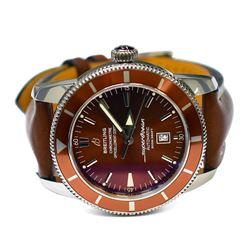 Breitling Mens Superocean Héritage Steel 46mm Bronze Dial Watch