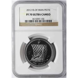 2012 Isle of Man Palladium Noble Coin NGC PF70 Ultra Cameo