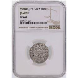 VS1841//27 India Rupee Jammu Coin NGC MS62