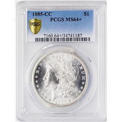 1885-CC $1 Morgan Silver Dollar Coin PCGS MS64+