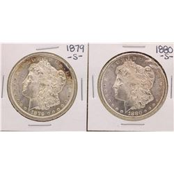 Lot of 1879-S & 1880-S $1 Morgan Silver Dollar Coins
