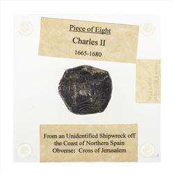 1675 Bolivia 8 Reales Shipwreck Coin
