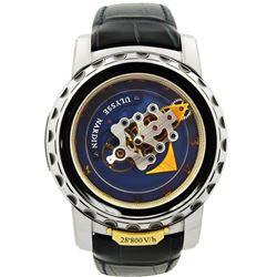 Ulysse Nardin Mens Freak 18K White Gold 44.5mm Blue Arabic Dial Watch