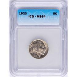 1923 Buffalo Nickel Coin ICG MS64