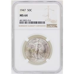 1947 Walking Liberty Half Dollar Coin NGC MS64