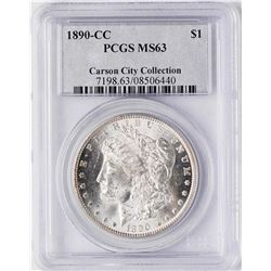 1890-CC $1 Morgan Silver Dollar Coin PCGS MS63