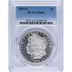 1879-S $1 Morgan Silver Dollar Coin PCGS MS62