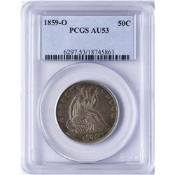 1859-O Seated Liberty Half Dollar Coin PCGS AU53