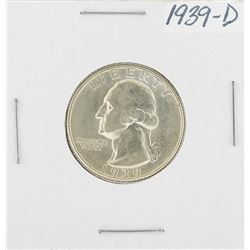1939-D Washington Quarter Coin
